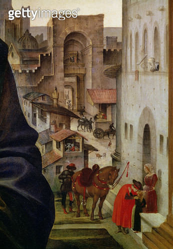 <b>Title</b> : Nerli Altarpiece, detail of the San Frediano gate in Florence, 1494 (panel) (detail of 58333)Additional Infobuilt 1324 perhaps b<br><b>Medium</b> : <br><b>Location</b> : Santo Spirito, Florence, Italy<br> - gettyimageskorea
