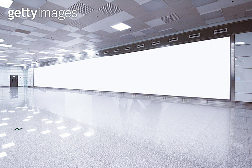 Mockup image of Blank billboard white screen posters and led in the subway station for advertising - gettyimageskorea