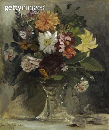 <b>Title</b> : Vase of Flowers, 1833<br><b>Medium</b> : oil on canvas<br><b>Location</b> : National Gallery of Scotland, Edinburgh, Scotland<br> - gettyimageskorea
