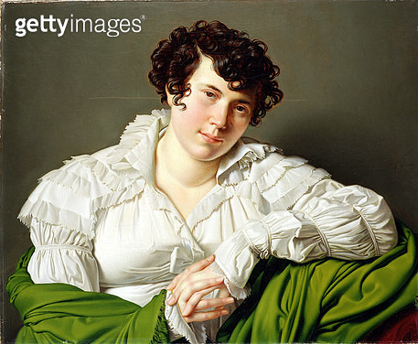 <b>Title</b> : Portrait of a Young Woman, c.1805 (oil on canvas)Additional Infoformerly called Mme De Stael;<br><b>Medium</b> : oil on canvas<br><b>Location</b> : Ferens Art Gallery, Hull City Museums and Art Galleries<br> - gettyimageskorea