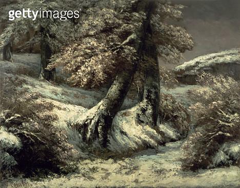 <b>Title</b> : Trees in the Snow, c.1865<br><b>Medium</b> : oil on canvas<br><b>Location</b> : National Gallery of Scotland, Edinburgh, Scotland<br> - gettyimageskorea