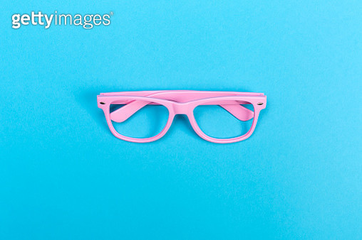 Sunglasses on a bright blue background - gettyimageskorea