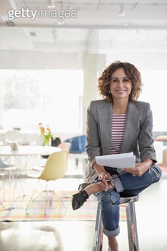 Portrait confident businesswoman in office - gettyimageskorea