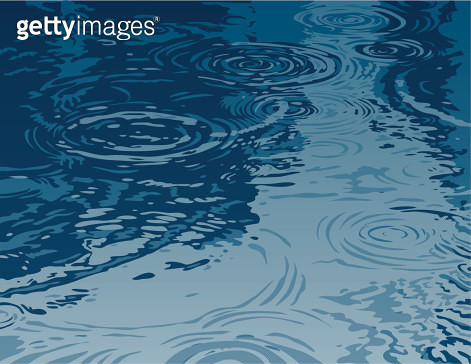 Puddle on a Rainy Day - gettyimageskorea