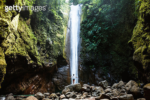 Woman at Casaroro falls, Negros, Philippines - gettyimageskorea