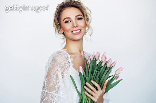 Beautiful woman with perfect hairstyle - gettyimageskorea