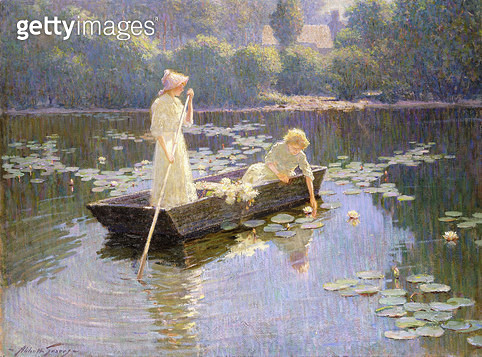 Pond Lillies/ (oil on canvas) - gettyimageskorea
