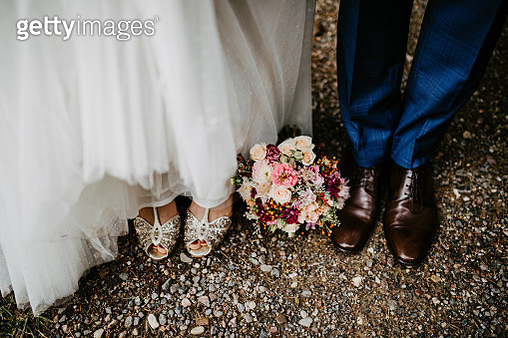 Bride and Groom at a wedding - gettyimageskorea