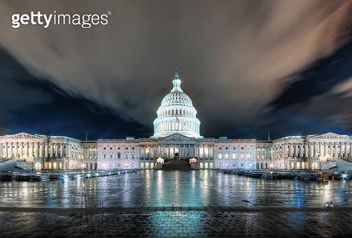Washington DC Capitol building captured at night - gettyimageskorea