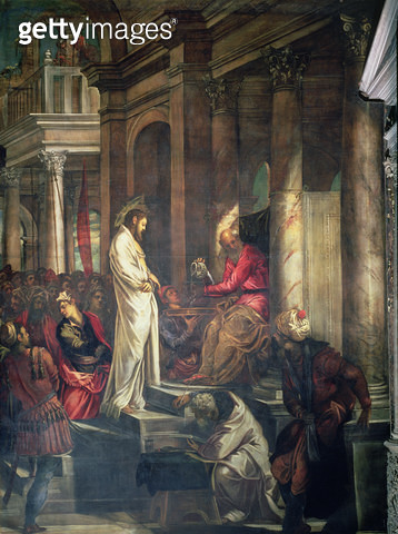 <b>Title</b> : Christ before Pilate<br><b>Medium</b> : <br><b>Location</b> : Scuola Grande di San Rocco, Venice, Italy<br> - gettyimageskorea