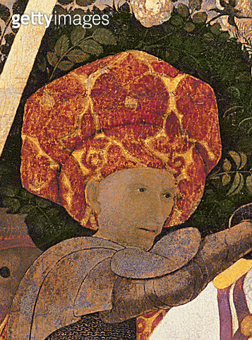 <b>Title</b> : The Battle of San Romano, detail of the head of Niccolo da Tolentino (d.1435) leader of the Florentine mercenaries, c.1450-60 (t<br><b>Medium</b> : tempera on panel<br><b>Location</b> : National Gallery, London, UK<br> - gettyimageskorea