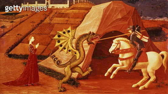 St. George and the Dragon (panel) (for detail see 85552) - gettyimageskorea