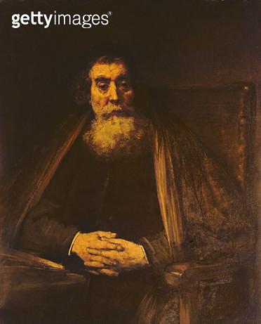 <b>Title</b> : Portrait of an Old Man<br><b>Medium</b> : oil on canvas<br><b>Location</b> : Galleria degli Uffizi, Florence, Italy<br> - gettyimageskorea