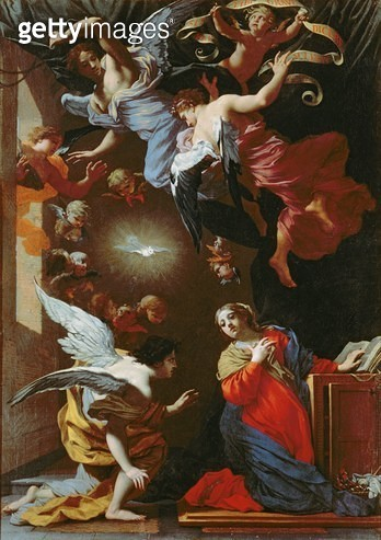 The Annunciation/ c.1650-60 (oil on panel) - gettyimageskorea
