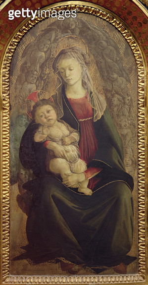 <b>Title</b> : Madonna and Child in Glory (tempera on panel) (for detail see 107250)<br><b>Medium</b> : tempera on panel<br><b>Location</b> : Galleria degli Uffizi, Florence, Italy<br> - gettyimageskorea