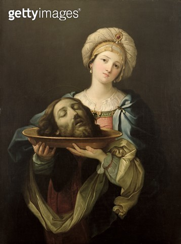 <b>Title</b> : Salome with the Head of St. John the Baptist, after a painting by Guido Reni (1575-1642), c.1761 (oil on canvas)<br><b>Medium</b> : oil on canvas<br><b>Location</b> : Ferens Art Gallery, Hull City Museums and Art Galleries<br> - gettyimageskorea