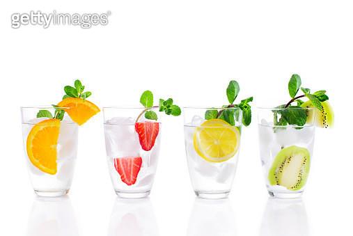 Fresh Mocktails on white background - gettyimageskorea