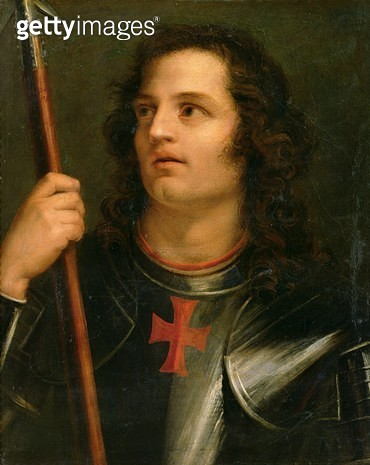 <b>Title</b> : A Crusader Knight, 1793 (oil on canvas)<br><b>Medium</b> : Oil on canvas<br><b>Location</b> : Musee des Beaux-Arts, Nantes, France<br> - gettyimageskorea