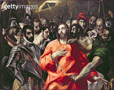 <b>Title</b> : The Disrobing of Christ (oil on canvas)<br><b>Medium</b> : oil on canvas<br><b>Location</b> : National Museum and Gallery of Wales, Cardiff<br> - gettyimageskorea