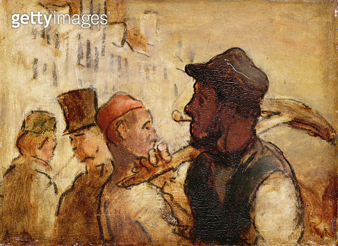 <b>Title</b> : Workmen on the Street, 1838-40 (oil on board)<br><b>Medium</b> : oil on board<br><b>Location</b> : National Museum and Gallery of Wales, Cardiff<br> - gettyimageskorea
