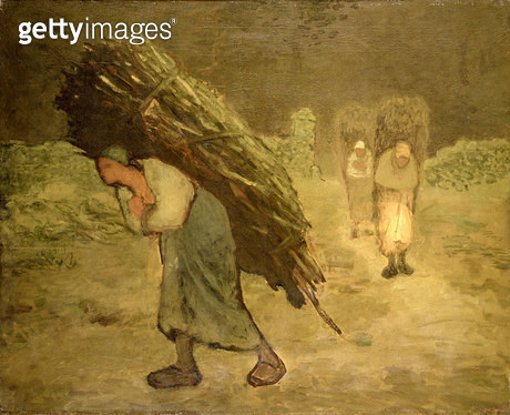 <b>Title</b> : Winter: The Faggot Gatherers, 1868-75 (oil on canvas)<br><b>Medium</b> : oil on canvas<br><b>Location</b> : National Museum and Gallery of Wales, Cardiff<br> - gettyimageskorea