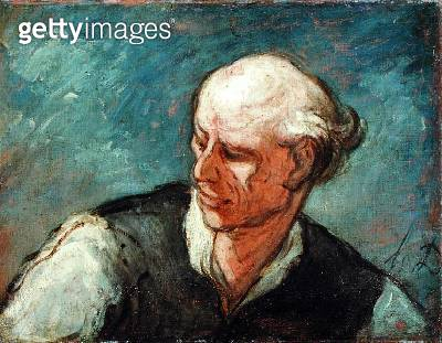 <b>Title</b> : Head of a Man, c.1855 (oil on canvas)<br><b>Medium</b> : oil on canvas<br><b>Location</b> : National Museum and Gallery of Wales, Cardiff<br> - gettyimageskorea