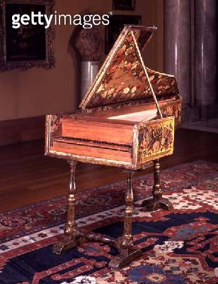 M.1-1933 Harpsichord/ probably made or rebuilt in Florence/ Italian/ 17th century - gettyimageskorea