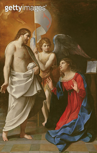 <b>Title</b> : Christ Appearing to the Virgin, c.1608 (oil on canvas)<br><b>Medium</b> : oil on canvas<br><b>Location</b> : Fitzwilliam Museum, University of Cambridge, UK<br> - gettyimageskorea