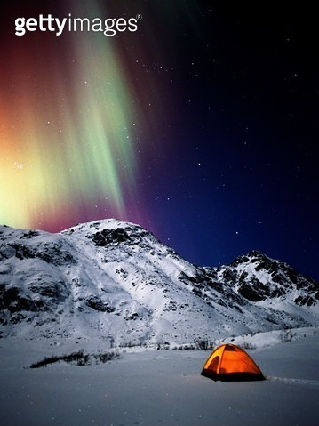 Northern Lights and Winter Camping - gettyimageskorea