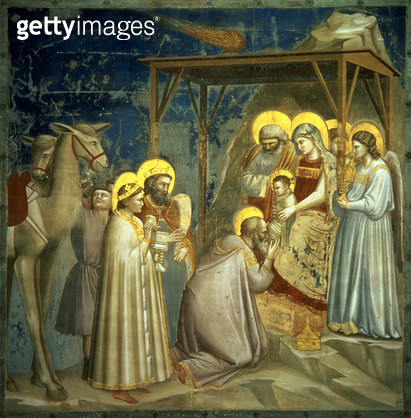 <b>Title</b> : Adoration of the Magi, c.1305 (for detail see 67136)<br><b>Medium</b> : fresco<br><b>Location</b> : Scrovegni (Arena) Chapel, Padua, Italy<br> - gettyimageskorea