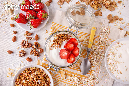 Healthy Breakfast In A Glass Jar - gettyimageskorea