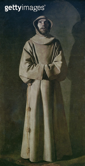 <b>Title</b> : St. Francis (1181-1226) 1645-64 (oil on canvas)<br><b>Medium</b> : oil on canvas<br><b>Location</b> : Musee des Beaux-Arts, Lyon, France<br> - gettyimageskorea