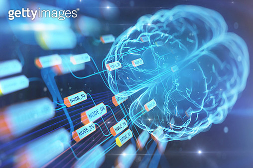 Artificial intelligence brain and installing data. - gettyimageskorea