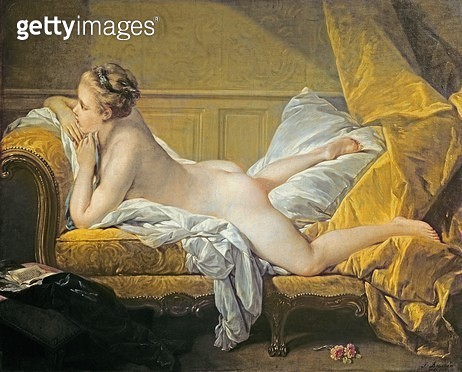 <b>Title</b> : Reclining Nude (Miss O'Murphy) (oil on canvas) (also see 267698)Additional InfoMarie-Louise O'Murphy (1737-1815) was the mistres<br><b>Medium</b> : <br><b>Location</b> : Wallraf Richartz Museum, Cologne, Germany<br> - gettyimageskorea