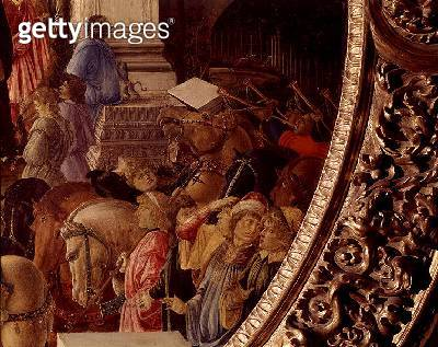 <b>Title</b> : The Adoration of the Kings, c.1470-75 (tempera on panel) (see also 186449 and 186450)<br><b>Medium</b> : tempera on panel<br><b>Location</b> : National Gallery, London, UK<br> - gettyimageskorea