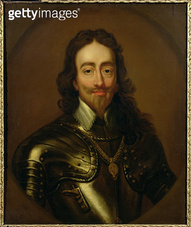 <b>Title</b> : Portrait of King Charles I of Great Britain and Ireland (1600-49) (oil on canvas)<br><b>Medium</b> : oil on canvas<br><b>Location</b> : Private collection<br> - gettyimageskorea