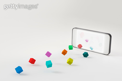 A smartphone and a block - gettyimageskorea