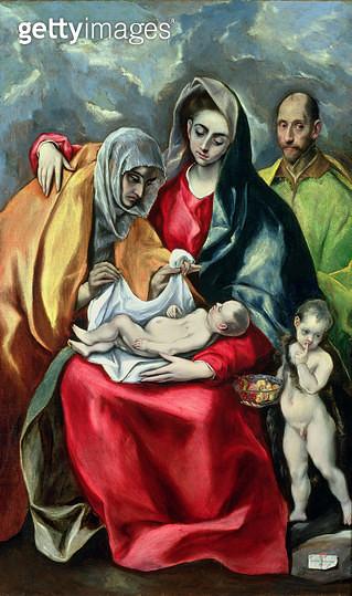 <b>Title</b> : The Holy Family with St.Elizabeth, 1580-85<br><b>Medium</b> : oil on canvas<br><b>Location</b> : Museo de Santa Cruz, Toledo, Spain<br> - gettyimageskorea