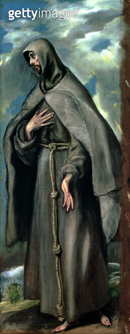 <b>Title</b> : St.Francis of Assisi (c.1182-1220)<br><b>Medium</b> : oil on canvas<br><b>Location</b> : Museo de Santa Cruz, Toledo, Spain<br> - gettyimageskorea