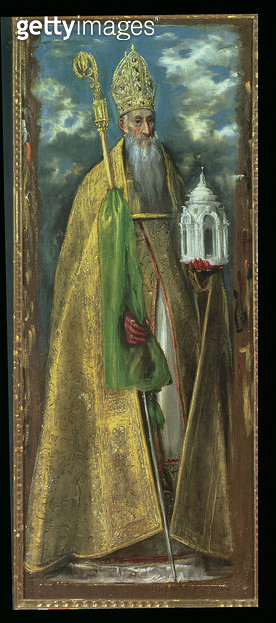 <b>Title</b> : Saint Augustine of Hippo (354-430) 1590<br><b>Medium</b> : oil on canvas<br><b>Location</b> : Museo de Santa Cruz, Toledo, Spain<br> - gettyimageskorea