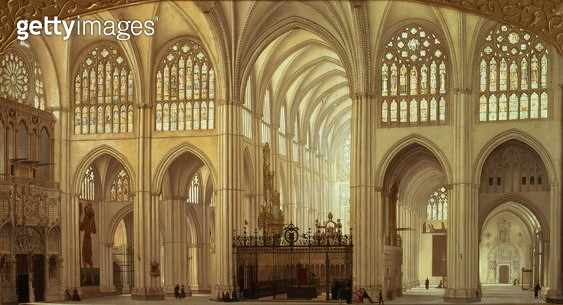 The Interior of Toledo Cathedral, 1856 - gettyimageskorea