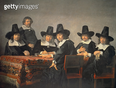 <b>Title</b> : 131-0635449 The Managers of the Haarlem Orphanage, 1663<br><b>Medium</b> : <br><b>Location</b> : Frans Hals Museum, Haarlem, The Netherlands<br> - gettyimageskorea