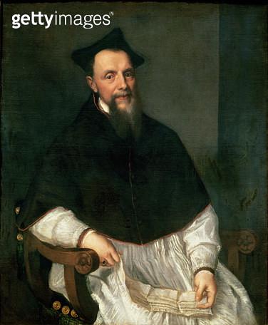 <b>Title</b> : Portrait of Bishop Ludovico Beccadelli, 1552<br><b>Medium</b> : oil on canvas<br><b>Location</b> : Galleria degli Uffizi, Florence, Italy<br> - gettyimageskorea