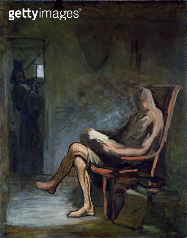 <b>Title</b> : Don Quixote Reading, 1865-67 (oil on canvas)<br><b>Medium</b> : oil on canvas<br><b>Location</b> : National Museum and Gallery of Wales, Cardiff<br> - gettyimageskorea