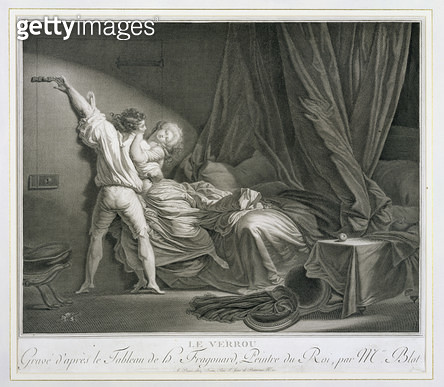 <b>Title</b> : The Bolt, engraved by Maurice Blot (1753-1818) pub. in Paris (engraving) (print of 37496)<br><b>Medium</b> : <br><b>Location</b> : Stapleton Collection, UK<br> - gettyimageskorea