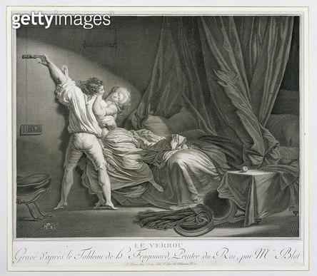 <b>Title</b> : The Bolt, engraved by Maurice Blot (1753-1818) pub. in Paris (engraving) (print of 37496)<br><b>Medium</b> : <br><b>Location</b> : Stapleton Collection, UK<br> - gettyimageskorea