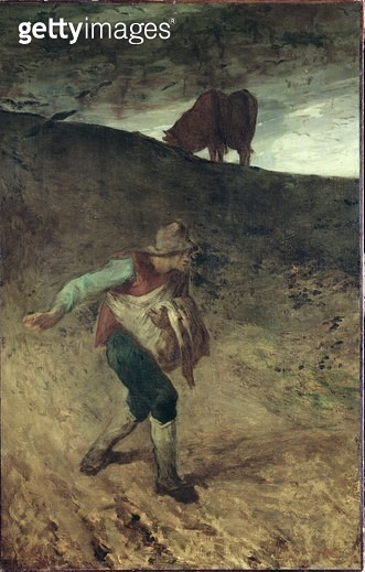 <b>Title</b> : The Sower, 1847-48 (oil on canvas)<br><b>Medium</b> : oil on canvas<br><b>Location</b> : National Museum and Gallery of Wales, Cardiff<br> - gettyimageskorea