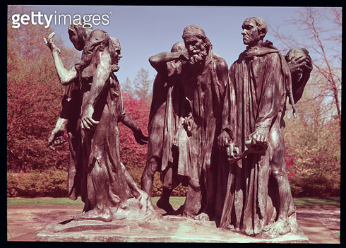 <b>Title</b> : The Burghers of Calais (bronze)<br><b>Medium</b> : bronze<br><b>Location</b> : Hirshhorn Museum, Washington D.C., USA<br> - gettyimageskorea