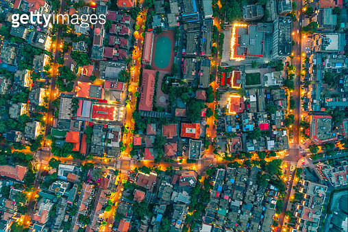 Residential district night view - gettyimageskorea