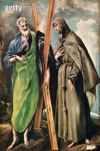 <b>Title</b> : SS. Andrew and Francis of Assisi, after 1576 (oil on canvas)Additional InfoSaint Andre et Saint Francois d'Assise;<br><b>Medium</b> : oil on canvas<br><b>Location</b> : Prado, Madrid, Spain<br> - gettyimageskorea